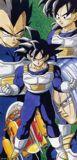Goku usando la ropa Saiyajin durante su entrenamiento en la habitaci??????el tiempo