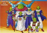 La familia Namek, desde el patriarca hasta Piccolo, Neil y Kami Sama