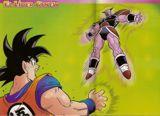 Goku durante su enfrentamiento contra Ginyu