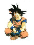 Goku descansando, si detrás suyo lleva el báculo sagrado