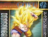 Goku en super saiyajin fase 3 a punto de ejecutar poderoso ataque