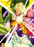 Goku en super Saiyajin Fase 3, intercalado con sus m᳠grandes enemigos hasta terminada Dragon Ball Z: Piccolo Dai Ma Ho, Freezer, Cell y Buu