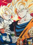 Super Trunks, Vegeta, Goku y el que al final derrotara a Cell, Gohan