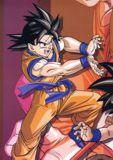 Goku lanzando un Kame Hame Ha